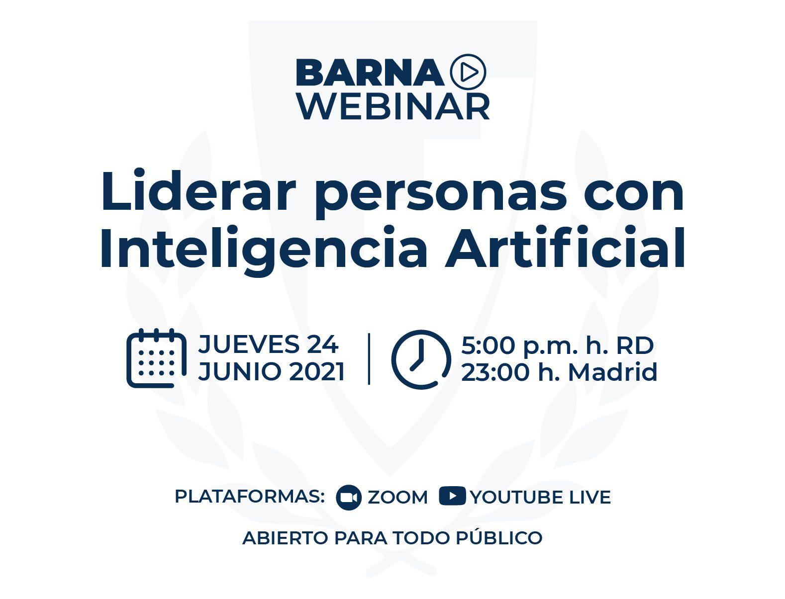 Webinar: Liderar personas con Inteligencia Artificial